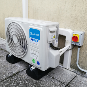 Installation climatisation unité extérieure Skyluxe